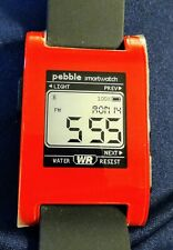 Pebble Smartwatch Red Model 301RD Excellent Condition