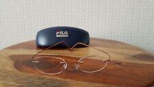 FILA  by De Rigo Flexible Titanium Gold Rimless Eye Glasses Frames