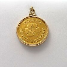1/4 OZ .999 Fine Gold 1997 Greater Trust in God ICHTHYS Fish Coin Charm Pendant