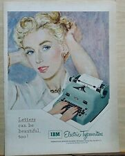 1953 magazine ad for IBM electric typewriters - Letters can be beautiful too!