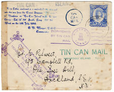 (I. B) Tonga postali: TIN CAN mail Copertura Auckland (1936)
