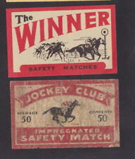 Ancienne étiquette Allumette Finlande BN25424 Jockey Cheval