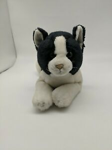"Russ Yomiko Classics Calico Black and White Cat Plush Stuffed 15"""