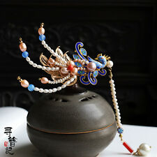 High Quality Chinese Classical Women Hairpin Hair Accessories Phoenix Pearl Agat