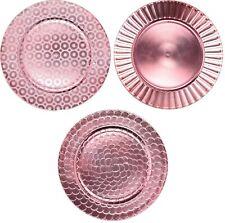 Set of 4 Shiny Pink Charger Plates Under Plates 33cm Premium Range