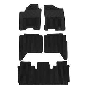 OEM 2012-2015 Nissan Armada Rubber Floor Mats w/ 2nd Row Bench NEW 999E1-2Z004
