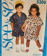 Vtg Butterick See & Sew pattern 5306 Children's Shirt & Shorts sz 2, 3, 4 uncut