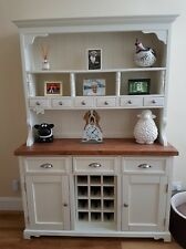 Welsh Dresser Farmhouse Kitchen Unit RUSTIC SHABBY CHIC OAK PINE Plate Rack NEW