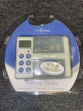 Life Wise Pillbox Timer, Never Forget Your Pills Again, New & Sealed-J70