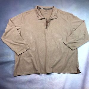 Great Northwest 1/4 Zip Lightweight Knit Sweater Light Brown Size 3X