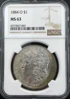 1884-O Morgan Dollar $1 Dollar NGC Graded MS63 Silver Coin (CO-HX-4727827-007)