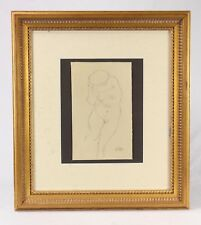 After Gustav Klimt (1862-1918) Signed Pencil Drawing Nude Woman
