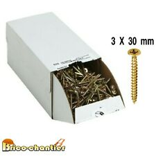 100 Vis a bois agglo 3 x 30 mm Visserie en Lot