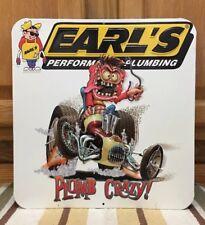 Earls Performance Plumbing Crazy Metal Bar Man Cave Bathroom Decor Garage Barn