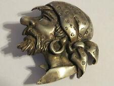 Vintage MARLEEN Sterling Silver Pirate Bust Brooch 24.9 grams