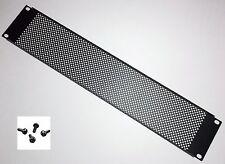 "New 2U Space Rack Panel Black Steel Vented Mesh 19"" Server Network PA Amp case"