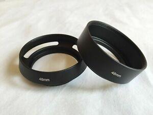 48mm Lens Hood Metal Vented Screw In Thread + 55mm Cap Canon Canonet QL17 GIII