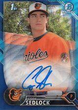 2016 Bowman Chrome Draft Cody Sedlock Blue Wave Refractor Autograph 106/150