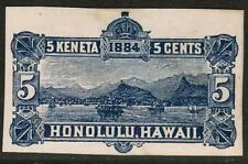 "Hawaii #U8 1884 5c ""Envelope White Outside,Blue Inside"" UNUSED Stamp"