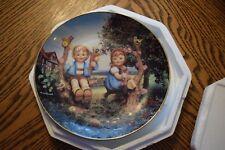 M.I. Hummel Plate Apple Tree Boy Girl Danbury Mint Little Companions Collection