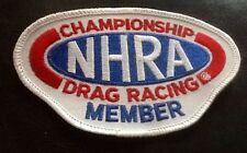 NEW NHRA Championship DRAG RACING MEMBER Patch EMBROIDERED