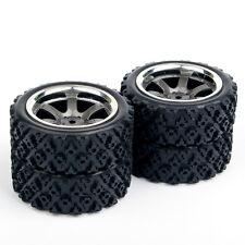 12mm Hex 1:10 RC Off Road Rubber Tires Wheel Rims 4Pcs Set For HSP HPI Racing
