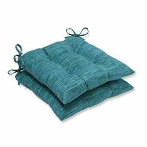 Pillow Perfect Outdoor/Indoor Remi Lagoon Tufted Seat Cushions Square Back 19...