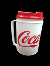 Coca-Cola Travel Mug Can Holder With Handle Insulated White with Red Logo