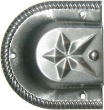 Stamped Steel STAR Trunk Handle end cap Loop chest steamer cover antique vintage