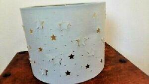 Light lamp shade pale green clear stars cut out light 20cm High x 25cm across