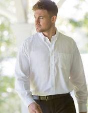 Normale Klassische Herrenhemden im Button-Down-Kragen-Stil mit Krempelärmel-Ärmelart aus Baumwollmischung