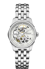 Hamilton Jazzmaster Viewmatic Skeleton Auto White Dial Lady's Watch H32405111