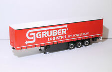 1:87 EM3737 Herpa Gardinenplanenauflieger Gruber Logistic Umbau Eigenbau
