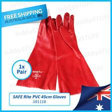 SAFE Rite - SR1118, PVC Dipped Gloves, Long 45cm Gauntlets, Red, 1xPair SafeRite