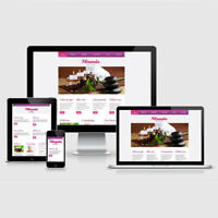 WEBSEITE FÜR BEAUTY SALON WELLNESS STUDIO FERTIGE HOMEPAGE RESPONSIVE WEBDESIGN