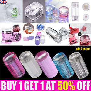 BEAUTYBIGBANG Silicone Nail Art Jelly Double Head Stamper & Scraper Set Tool