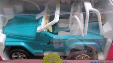 Barbie voiture radio control jeep wrangler Véhicule Feux de travail Vintage année 2000