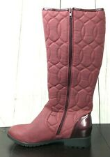 Womens Mid Calf Winter Boots Size 10 Pink Berry Faux Fur Lining