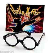 School Boy Nerd Wizard Black Geek Fancy Dress Costume Glasses Harry Potter Specs