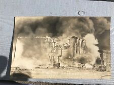 Excellent Antique RPPC Postcard Signed Lyon Son In Kalkaska Big Fire Michigan 5