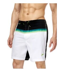 Speedo Mens Ombre Stretch Swim Bottom Board Shorts