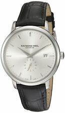 Raymond Weil Toccata Men's Silver Dial Black Leather Watch - 5484-STC-65001 NEW