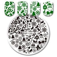 BORN PRETTY Nail Art Stamp Image Plate Christmas Design Nail Templates BP-120
