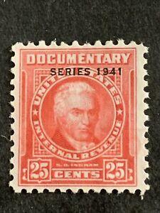 T1/65 US Stamp revenue BOB Documentary Series 1941 R319 25c Unused NH NG Nice