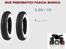 KIT 2 COPERTONI GOMME 3.50-10 3.50 10 FASCIA BIANCA VESPA PX 125 150 200