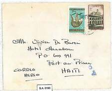 Animals : SLOTH - COLOMBIA - POSTAL HISTORY  -  AIRMAIL COVER to HAITI 1961