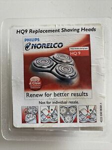 Philips Norelco HQ9 Replacement Shaving Heads Authentic in Sealed Packaging