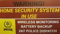 6 pack Home Alarm Security System Window Decal Stickers
