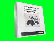 2017 KAWASAKI TERYX TERYX4 T4 TECHNICAL REPAIR SERVICE DEALER MANUAL BINDER BOOK