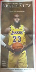 LOS ANGELES TIMES OCTOBER 14 2018 LEBRON JAMES NBA REVIEW LAKERS